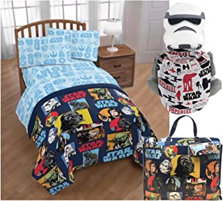 Disney Star Wars Twin Bedding Set with Storm Trooper Pillow Buddy and Throw Blanket