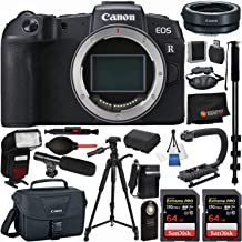 Canon EOS R Full-Frame Mirrorless Digital Camera (Body Only) 19PC Professional Bundle – Canon Mount Adapter EF-EOS R + Extended Life Spare Battery (LPE6) + 2X SanDisk Extreme PRO 64GB SD Card + More