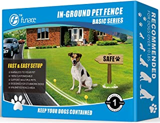 Radio Wave Electric Dog Fence System - Easy to Install in-Ground Wired Pet Containment Kit - 100% Safe & Harmless Underground Pet Fence- Allow Your Dog to Run Freely in a Customized Predefined Area