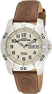 Timex Mens Quartz Watch, Analog Display And Leather Strap - T46681