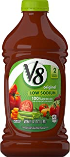 V8 Original Low Sodium 100% Vegetable Juice, 64 oz. Bottle