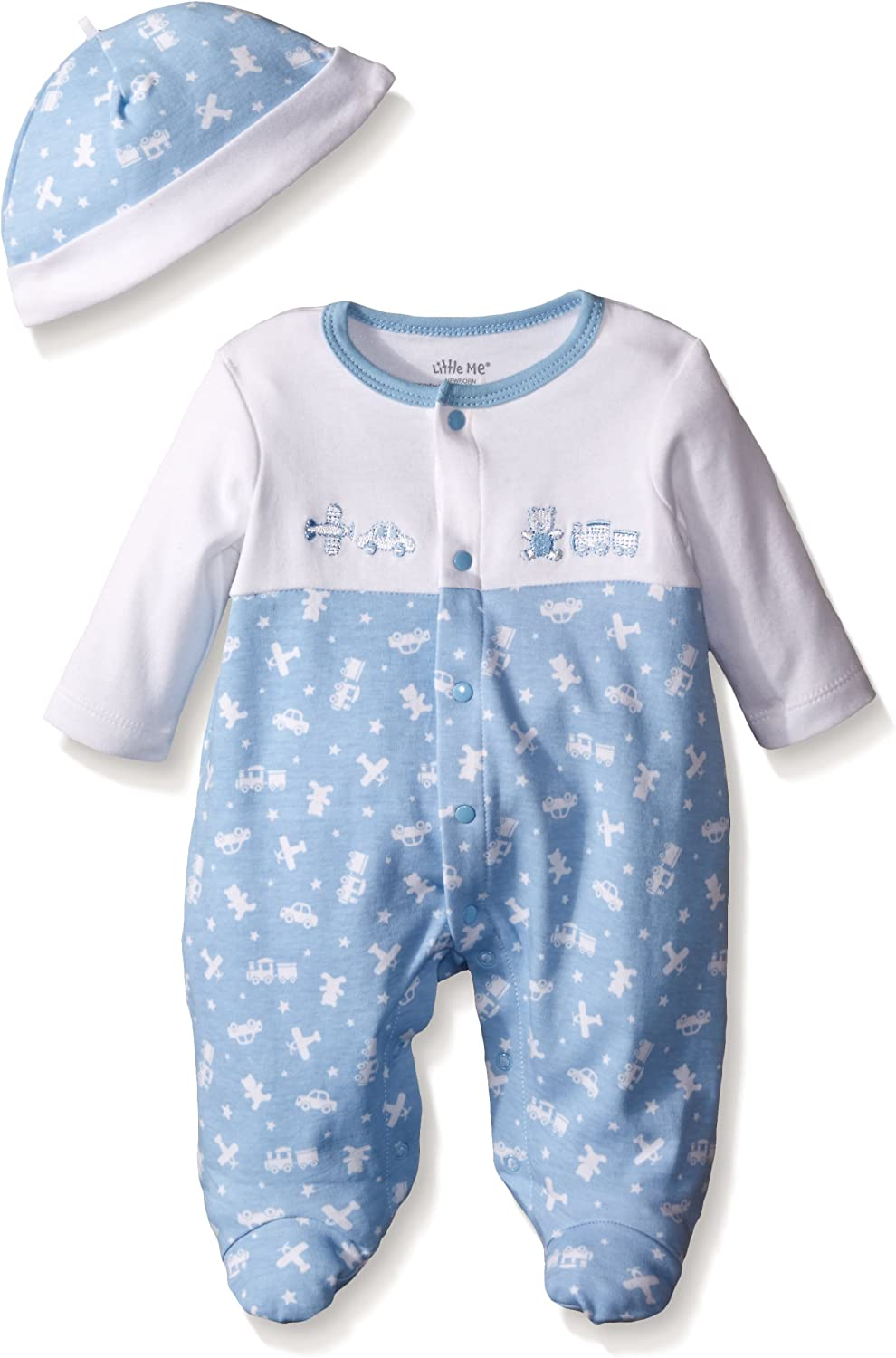 Little Me Baby Boys' Footie and Hat