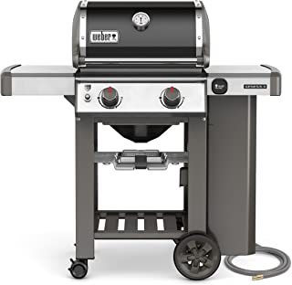 Weber 65010001 Genesis II E-210 Natural Gas Grill, Black, Two-Burner,