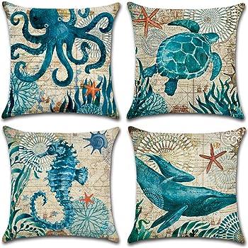 Cotton Linen Pillow Cushion Cover