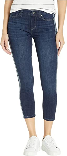 Abby Crop Skinny Jeans w/ Reverse Side Inset in Freemont