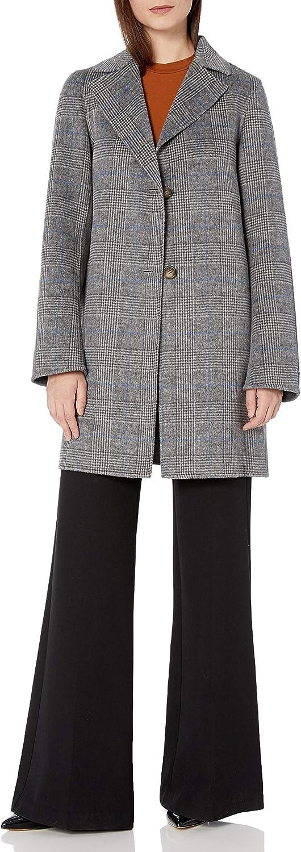 T Tahari Women's Jayden Double Face Topper Coat with Button Closure