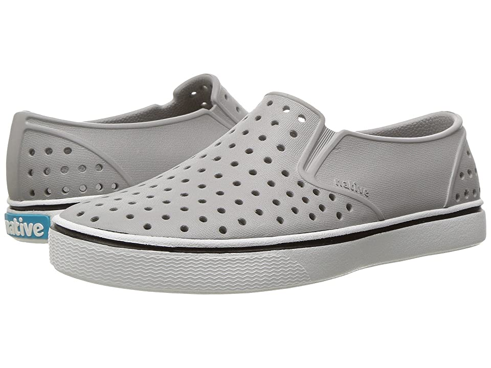 Native Kids Shoes Miles Slip-On (Little Kid/Big Kid) (Pigeon Grey/Shell White) Kids Shoes