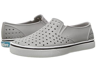 Native Kids Shoes Miles Slip-On (Little Kid/Big Kid) (Pigeon Grey/Shell White) Kids Shoes