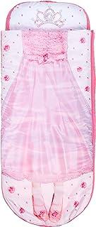 Worlds Apart Junior-ReadyBed – sovsäck för barn och luftsäng i en i en, polyester, rosa-vit, 150 x 62 x 20 cm
