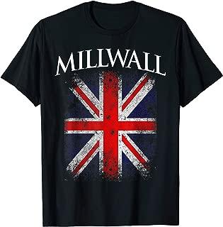 Millwall British Flag Vintage Retro Distressed T-Shirt