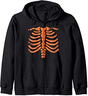 Skeleton Chest - Halloween Xray Bones Ribs Party Costume Zip Hoodie