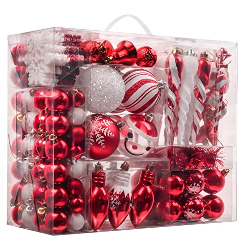 Red And White Christmas Tree Decorations Amazon Com