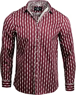 Rock Roll n Soul Men's 'Abbey Road' Long Sleeve Button Down Burgundy Shirt 208B