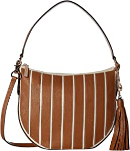 Applique Stripe Canvas Brklyn Medium Conv Hobo