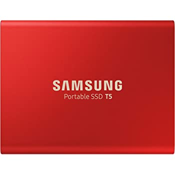 Samsung T5 Portable SSD 500GB - USB 3.1 External Solid State Drive with V-NAND Flash Memory Technology (MU-PA500R/WW) - Metallic Red