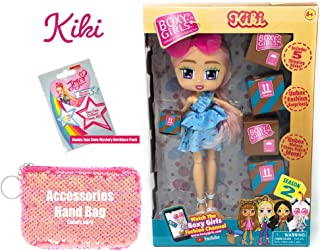 Ropeastar Boxy Girls Doll Play Set Season 2 with Sequin Accessories Bag and JoJo Siwa Mystery Necklace Pack (Kiki)