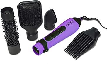 Calista Tools StyleDryer Custom AirBrush, 4-in-1 Styling Tool, 4 Styling Attachments Included, Wet or Dry Hair Styling, For All Hair Types