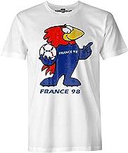 More T Vicar Francja 98 vintage T-shirt - nadruk w stylu postarzałym męski t-shirt z mistrzostwami świata w piłce nożnej