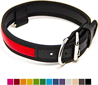 Logical Leather Premium Leather Dog Collar - Best Full Grain Heavy Duty Genuine Leather Collars