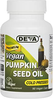 Deva Nutrition Vegan Pumpkin Seed Oil Capsules, 90 Count