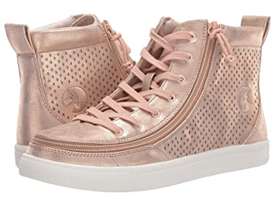 BILLY Footwear Classic Lace High Metallic (Rose Gold Shine) Women