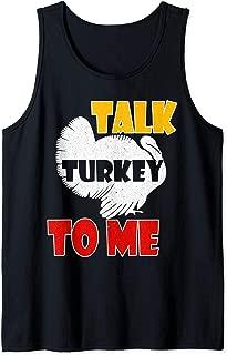 Talk Turkey To Me Shirt Funny Turkey, Thanksgiving Day Gift Tank Top