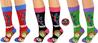 ARAD Novelty Casino Socks for Men and Women, Crazy Poker-Themed Clothes (3-Pack)
