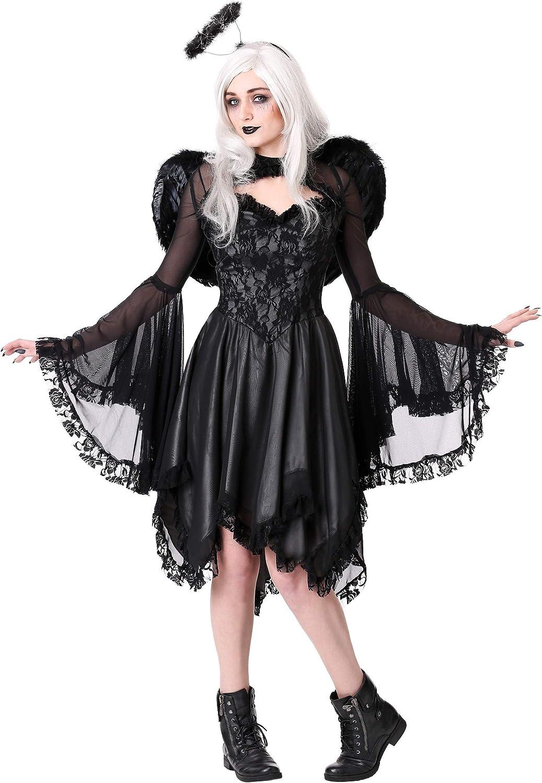Plus Size Women's Classic Dark Angel Fancy Dress Costume 1X