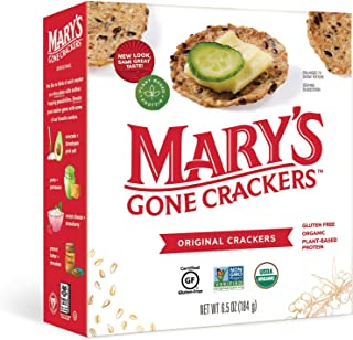 Mary's Gone Crackers Original Crackers, Organic Brown Rice, Flax & Sesame Seeds, Gluten Free, 6.5 Ounce (Pack of 1)
