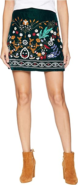 Multicolor Embroidered Mini Skirt