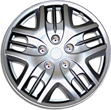 TuningPros WSC-025S15 Hubcaps Wheel Skin Cover 15-Inches Silver Set of 4