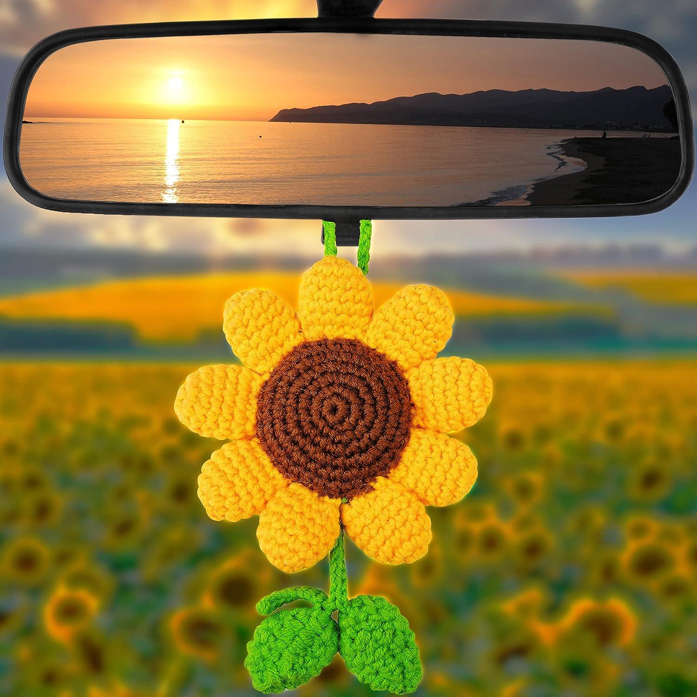 Natchia Rear View Mirror Accessories Sunflower M Car 2021 autumn and winter new Decor Popular brand
