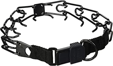 Herm Sprenger Black Stainless Steel Dog Pinch Collar with Click Lock Buckle - 1/8 inch (3.2 mm) - Size 21 inch (52 cm)