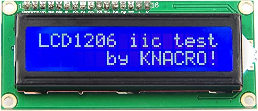 KNACRO IIC/I2C/TWI 1602 Serial Blue Backlight LCD Module for Arduino UNO R3 MEGA2560 16 X 2, 1602 White Letters on Blue Display