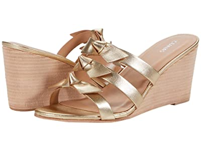 KAANAS Recife Wedge with Bows (Gold) Women