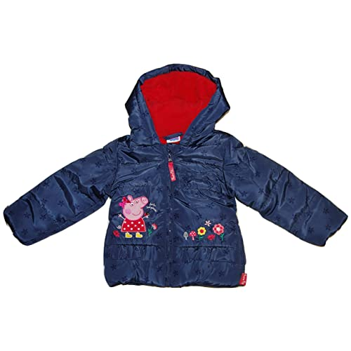 c88bf2374 Peppa Pig Hooded Coat Fleece Lined Padded Jacket Shower Proof Zip up  Toddlers (3-