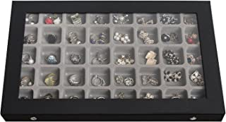 MK333A - Top Cover Jewelry Storage Case with 40 Compartments(Black)