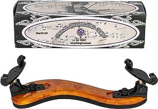 """MI&VI Violin Shoulder Rest - Real Maple Wood, Round, Collapsible, Adjustable, Excellent Support Grip (Violin 4/4-3/4& Viola 14""""-13"""")"""