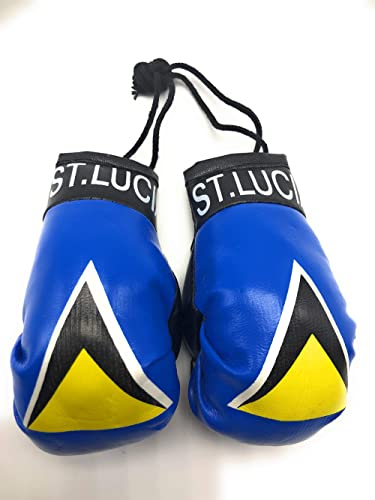 Red Hat Ent Hanging Car Mirror Mini Boxing Gloves (Saint Lucia)