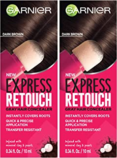 Garnier Hair Color Express retouch gray hair concealer, instant gray coverage, Dark Brown, 0.68 Fluid Ounce