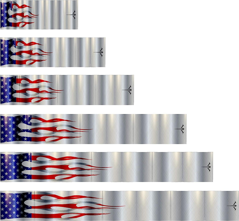 White New life Water Archery Laminated Metallic Flag USA Arrow Wholesale 15pc Pack