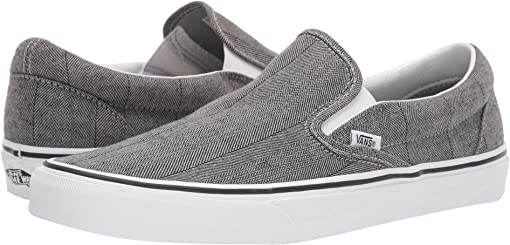(Herringbone) Grey/True White