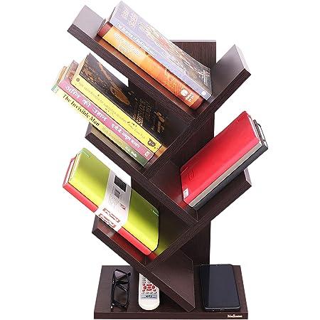 Madhuran Wood Book Shelf ,Laminated Finish,Set Of 1,Black
