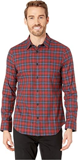 Long Sleeve Brushed Twill Check Shirt