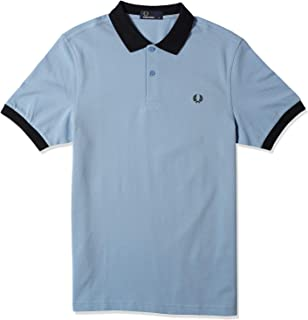 Fred Perry Mens COLOUR BLOCK PIQUE SHIRT Polos