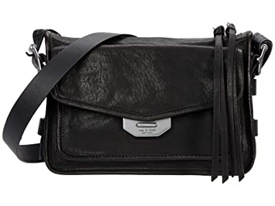 rag & bone Small Field Messenger Crossbody (Black) Cross Body Handbags