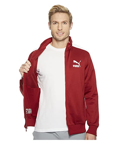 PUMA Archive T7 Track Jacket Red Dahlia Outlet Cheap Prices Cheap Sale The Cheapest Best Sale Cheap Price AYmdZx9