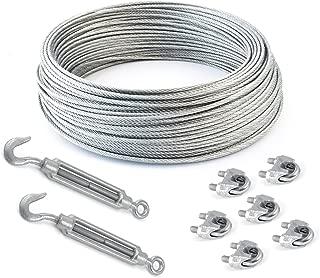 COJUNTO 50m cuerda de alambre galvanizado 4mm hebra: 6x7 + 6