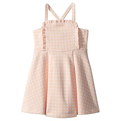 Janie and Jack Sleeveless Apron Dress (Toddler/Little Kids/Big Kids) (Peach Pink) Girl