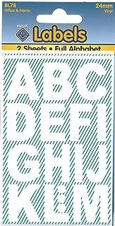 Pegatinas de vinilo con letras blancas, 24 mm